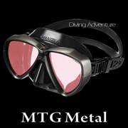 GULL MANTIS LV BLACK SILICONE MASK-MTG METAL
