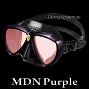 GULL MANTIS LV BLACK SILICONE MASK-MDN PURPLE