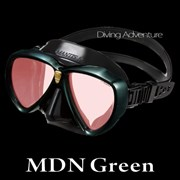 GULL MANTIS LV BLACK SILICONE MASK-MDN GREEN