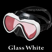 GULL VADER BLACK SILICONE MASK-M GLASS WHITE