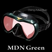 GULL VADER BLACK SILICONE MASK-MDN GREEN